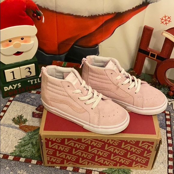 Vans Shoes | Girls Pink High Top Size